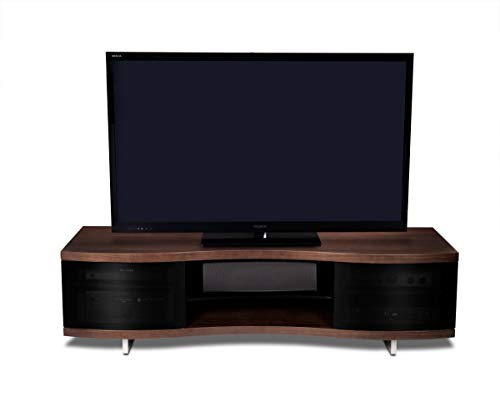 BDI Ola 8137 Triple Wide Curved Entertainment Cabinet, Chocolate Stained Walnut