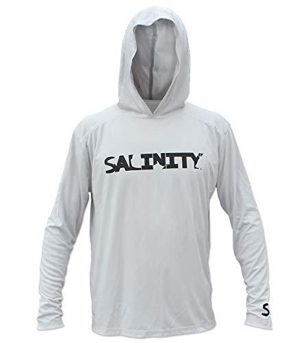 (Salinity Gear Performance Fishing Hoodie - UPF 50+ Dri-Fit Shirt (XXLarge, Grey))