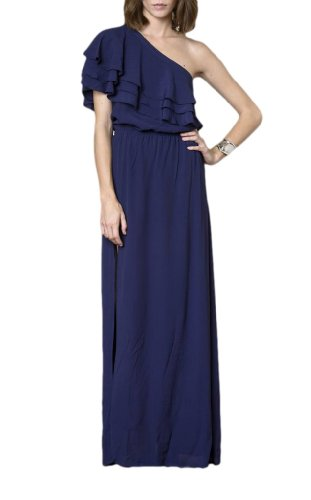 Label Blaque - Blaque Label Women's One shoulder Maxi Dress S Navy