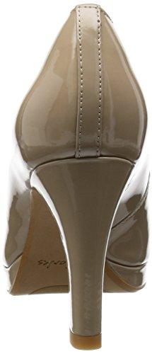Clarks Crisp Kendra - Tacones Mujer Beige (Sand Patent)