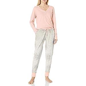 Splendid Women's Long Sleeve Henley and Jogger Pajama Lounge Set