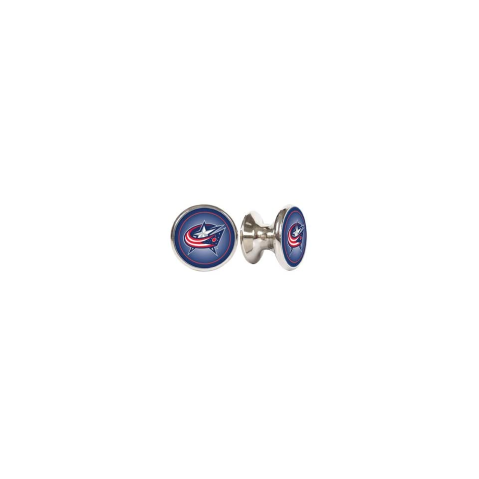 Columbus Blue Jackets NHL Stainless Steel Cabinet Knobs / Drawer Pulls (2 pack)