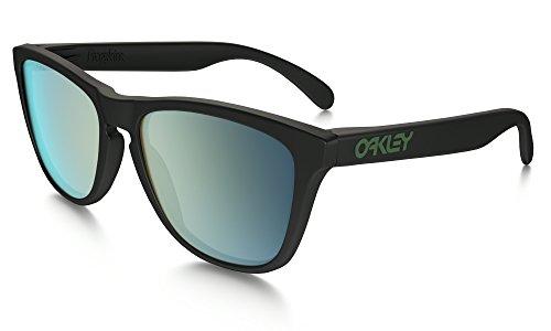 Oakley Frogskins Alt Fit Sunglasses MAT BLK/Emerald Irid. Pol. & Care Kit - Buy Frogskins Oakley