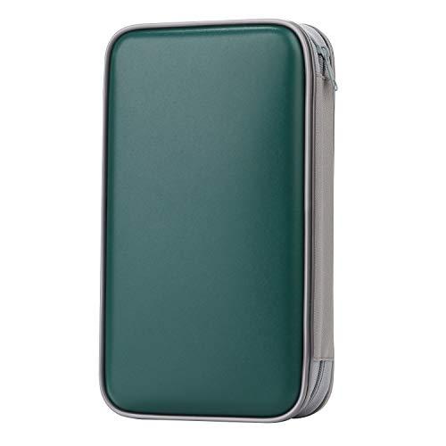 - CD Case, COOFIT 80 Capacity DVD Storage DVD Case VCD Wallets Storage Organizer Flexible Plastic Protective DVD Storage Dark Green