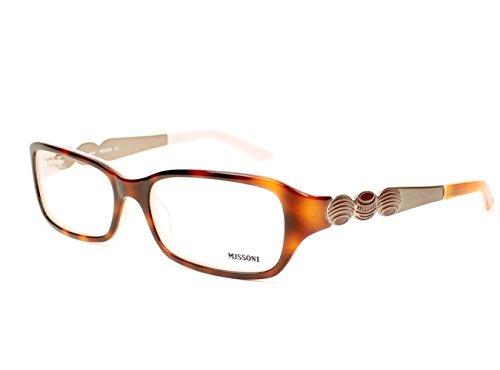 Missoni 11302 Womens/Ladies Designer Full-rim Eyeglasses/Glasses (53-17-130, Tortoise / Light (Marco Polo Costume)
