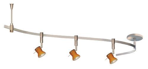 Alfa Lighting MLKD2-BRZ-AMB 3-Light Halogen Line Voltage 48-Inch Monoline Kit, Vintage Bronze with Amber (Alfa Track Lighting)