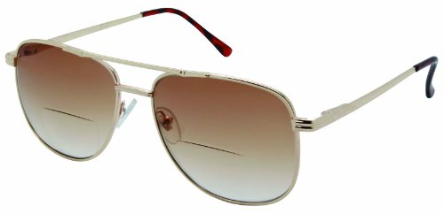 Just Chillin', Aviator Bifocal Sunglasses. for Closeup and Distance Vision Outdoors - Prescription For Sunglasses Women