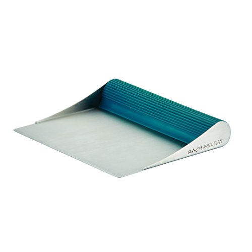Rachael Ray Tools and Gadgets Stainless Steel Bench Scrape, Marine Blue