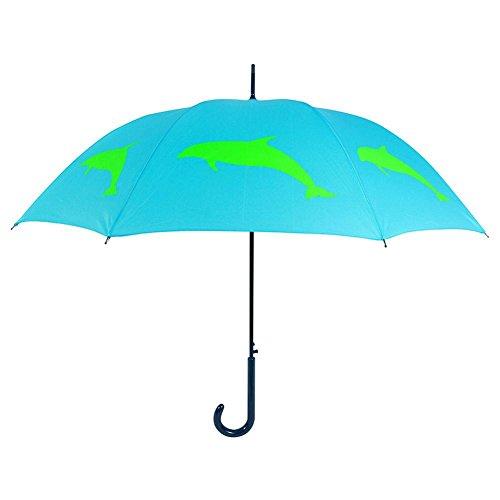 Dolphin Umbrella - San Francisco Umbrella Co, Blue/Green Dolphin Umbrella