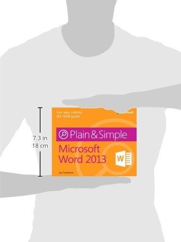 Microsoft Word 2013 Plain & Simple by Brand: Microsoft Press