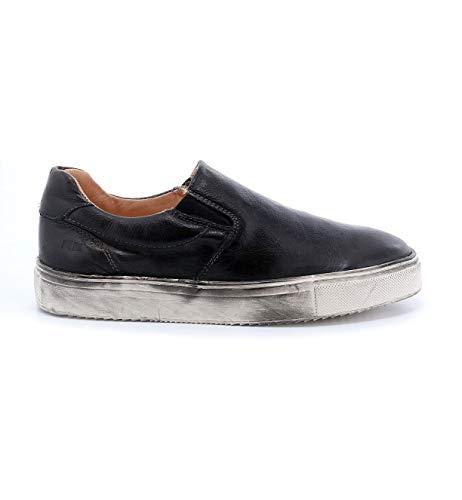Bed|Stu Women's Hermione Leather Slip-on (9 M US, Black Rustic)