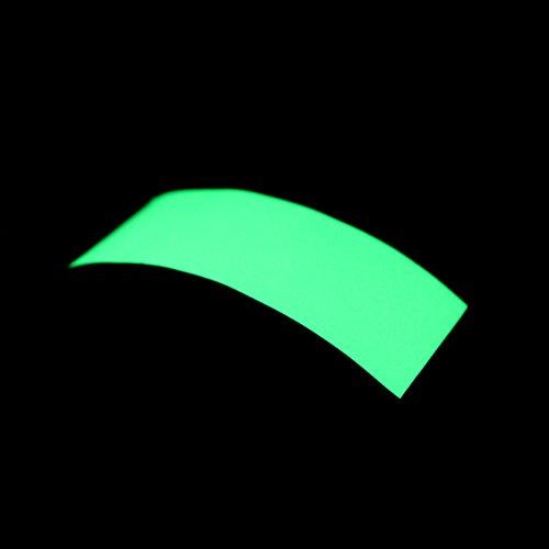 Docooler Glow in the Dark Tape Premium Luminous Green Sheet Sticker Film for Warning Labels 3