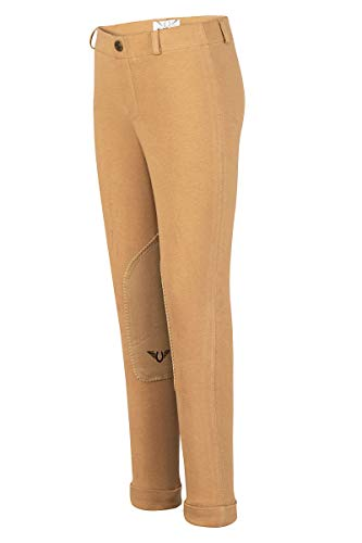TuffRider Girl's Starter Lowrise Pull-On Jods Breech, Sand, 6