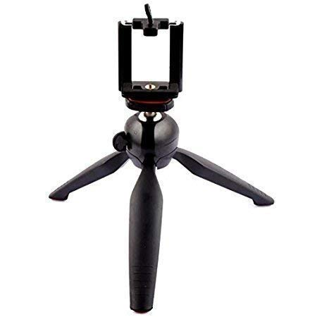 Atlanta YT 228 Mini Tripod Stand Universal Light Weight Holder with Mobile Clip and Mount for Digital Camera DSLR iPhone Android Phones and Smart Phones