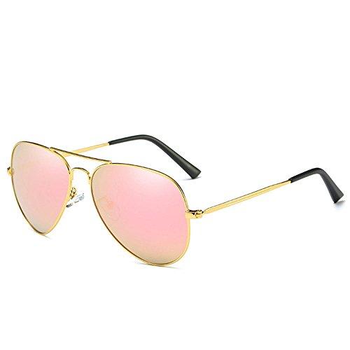 Aviator de Big air hommes soleil en conduite de de classique en Vogue Rose les lunettes Sport lunettes plein et métal Frame soleil crapaud lunettes les femmes qwrzq65
