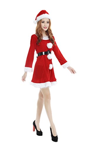 Winter Wonderland Costumes For Women (Aurora Bridal 2016 Women Red Santa Claus Costumes Costumes Cosplay Fancy Dress G)