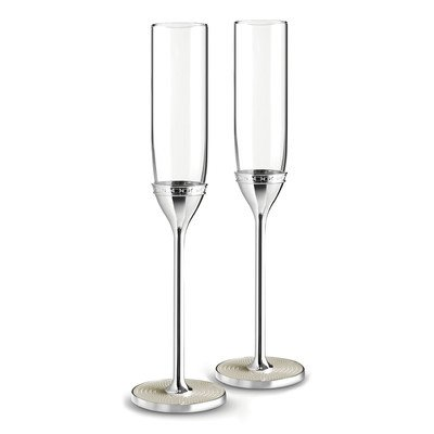 Wedgwood 40019711 with Love Nouveau Toasting Flute Pair, Clear -  Vera Wang
