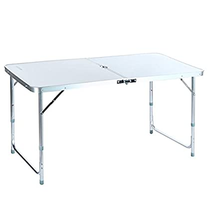 Folding Table With Handle.Unbrand 4ft Camping Folding Table With Carrying Handle Small Table Portable Outdoors Furniture Ship From Usa