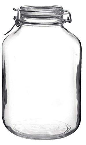 Bormioli Rocco Fido Glass Canning Jar Italian - 4 Liter - Large Glass Jar