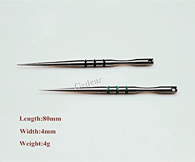 TIKING 1pc Titanium Toothpicks Fruit Sign High Grade Self Defense Survival Tool L:80mm from Gedear