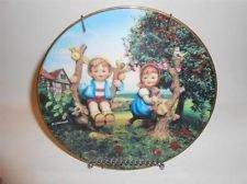 Girls Apple Tree - DANBURY MINT PLATE MJ HUMMEL APPLE TREE BOY & GIRL Little Companions LTD