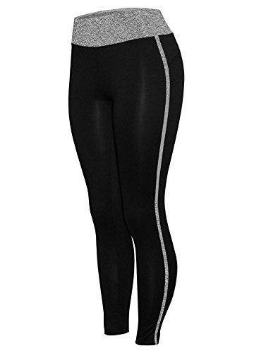 W Sport® Women's Moisture Wick Full Length Skinny Athletic Yoga Leggings, Heather Gray, XL