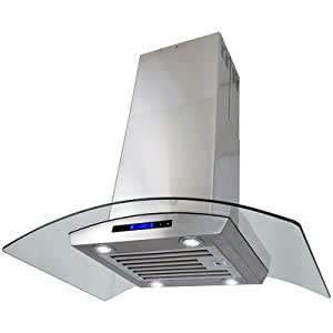 30 870 cfm island mount ventless ductless range hood with touch panel home improvement. Black Bedroom Furniture Sets. Home Design Ideas