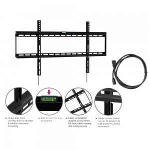 Ultra-slim 42-50 132LB 0.98 Flat Panel Screen LCD LED Plasma TV Wall Mount Bracket with 6ft HDMI Cable