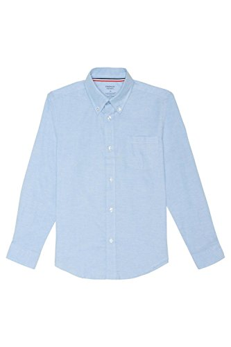 French Toast Big Boys' Long Sleeve Oxford Dress Shirt, Light Blue, 12 by French Toast