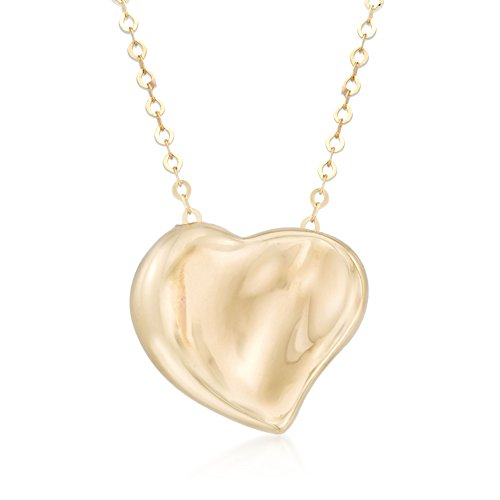 Ross-Simons Italian 14kt Yellow Gold Heart Charm Necklace. 18