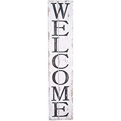 Welcome Wooden Sign Welcome Vertical Sign 42 inches