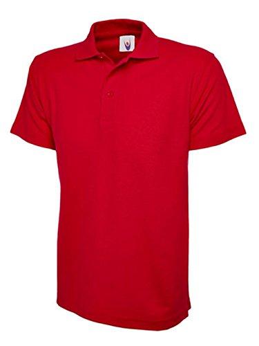 247 Qualité clothing Polo De L'eps Rouge Piqué Uniforme Enfants L'école Pour Première rrUvqRw