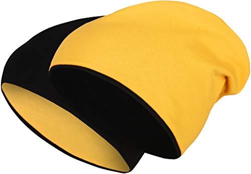Balinco 2 in 1 Functional Cap - Reversible Slouch Long Beanie Jersey Cotton Elastic Unisex Men's Women's Hat Heather in 24 (8)