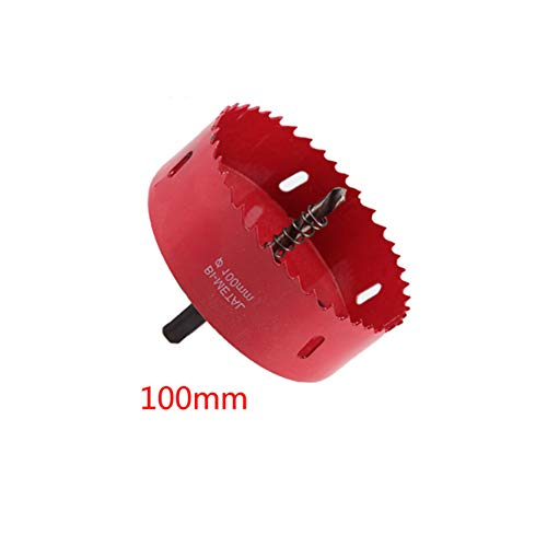 Hole Saw Blade for Cornhole Boards Aluminum Iron Pipe Wood Bi-Metal Holesaw Drill Bit Hole Saw Cutter 3-15/16