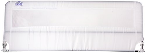 Regalo Hide Away Extra Long Bed Rail, White - Kids Bed Box