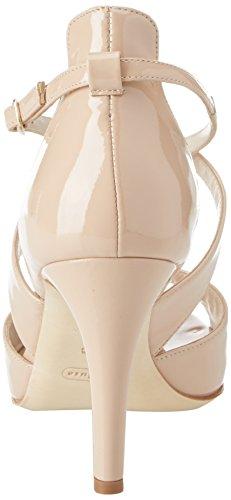 Tacon Correa nude Nude Mujer De Donna Con Melluso Beige Y Para Tobillo Zapatos BatRx1q