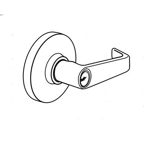 Arrow Door Lever Lockset, Heavy Duty, Keyed Different, 2-3/4