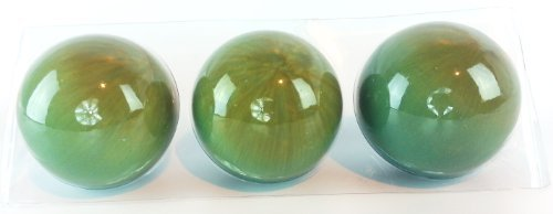 Sage Green Decorative Orbs Abstract Contemporary Set of 3 ()