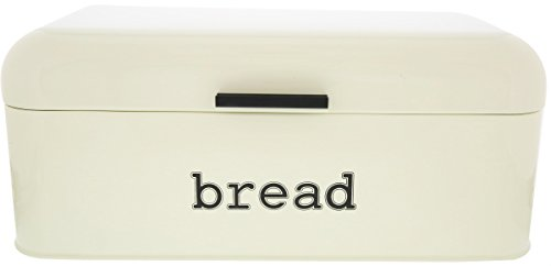 Ivory Stainless Steel Vintage Bread Box