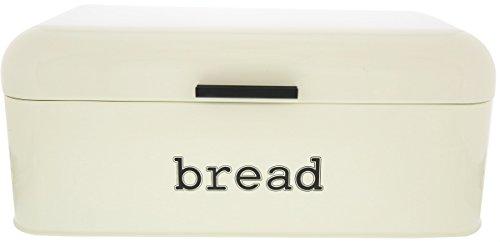 Ivory Stainless Steel Vintage Bread Box