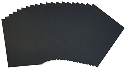 Crescent Mount Board - Crescent Creative Products No. Crescent Ultra-Black #8 Mounting Board, Double-Sided, Bulk Pack, 40 Count, 9