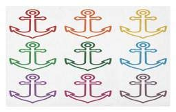 Ambesonne Anchor Doormat, Colorful Outline Anchors Sailing Cruise Travel Boat Ship Vessel Graphic Naval Theme, Decorative Polyester Floor Mat with Non-Skid Backing, 30 W X 18 L Inches, -