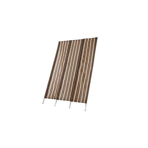 ジッパー付きロールアップ立て簾 W200cm ブラウン B01ITBGB8Q 11880   約幅200×高さ260~300cm/4.3kg