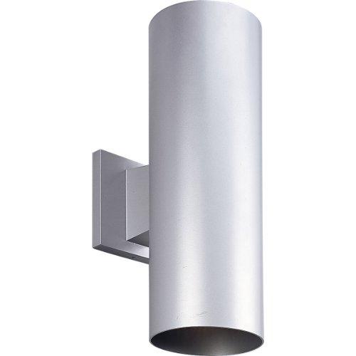 "Progress Lighting P5675-82 Wall Cylinder Outdoor Light, PAR 30, 5"" x 14"" (Metallic Gray)"