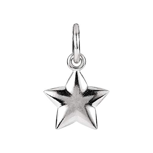 Sterling Silver 15.75x9.75mm Puffed Star Charm with Jump Ring (Sterling Star Silver Puffed)