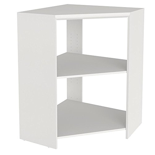 Easy to Install Impressions 41.1 In. Corner Unit - Durable Laminate Construction (White)