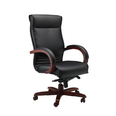 Mercado Corsica High-Back Office Chair with Arms Finish: Sierra - Mayline Traditional Desk
