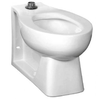 American Standard 2529.116.020 Neolo Elongated 1.6 Gpf Top Spud Wall Outlet Toilet Bowl Less Seat, White