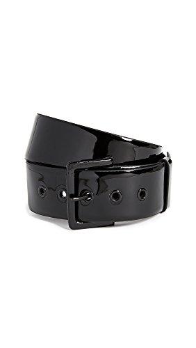 FRAME Women's Patent Belt, Noir, Medium by FRAME