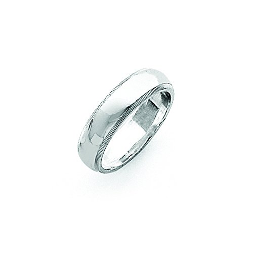 Sterling Silver 5mm Milgrain Band, Size 5